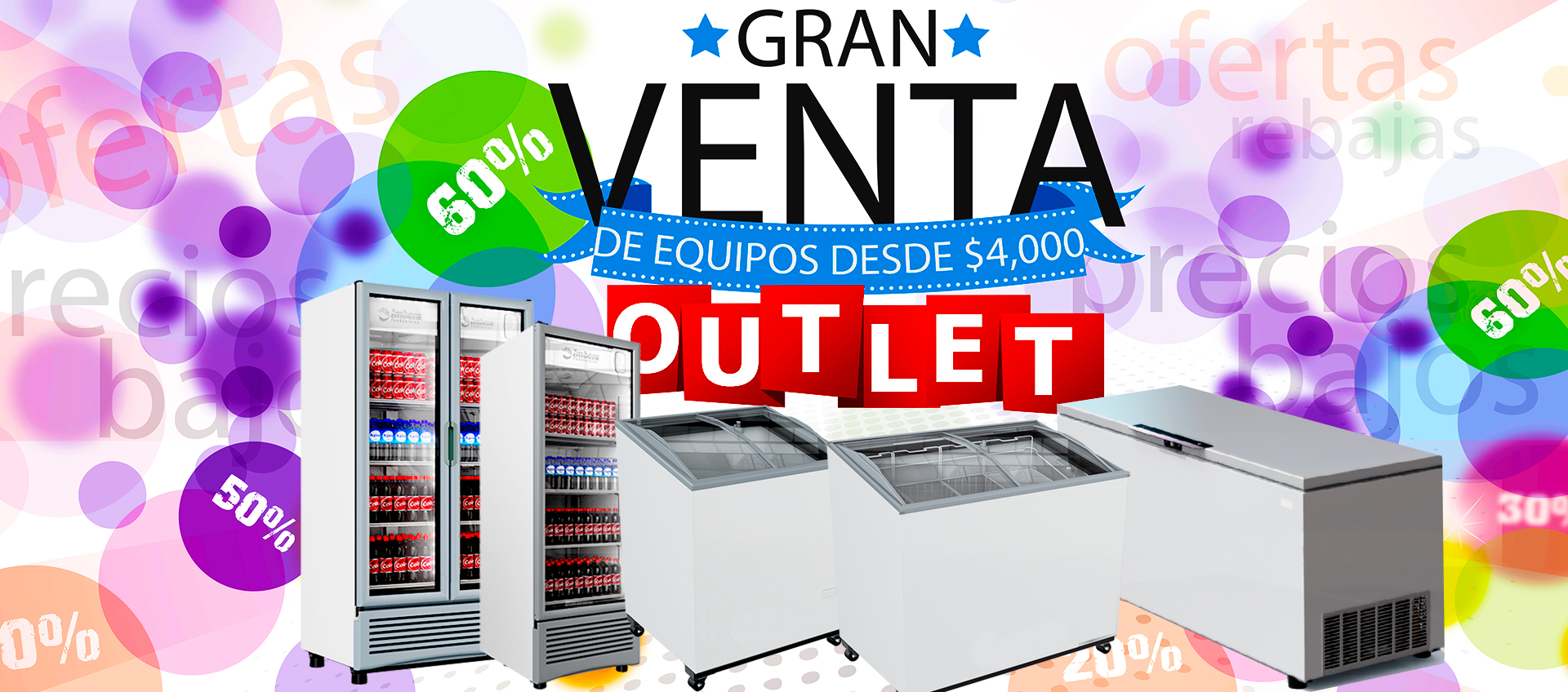 congeladores outlet